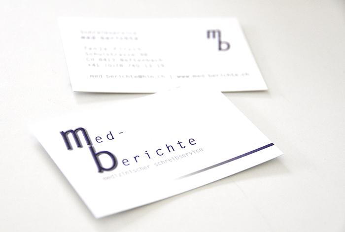 Arbeiten von Kunden Visitenkarten