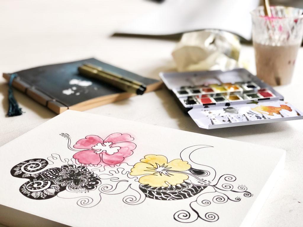 meditative Zeichnung