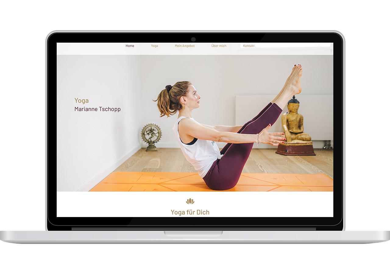 Website Yoga Marianne